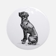 Canary Dog Ornament (Round)