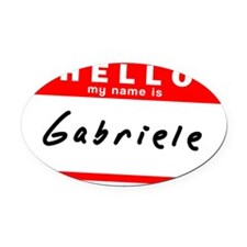 Gabriele Oval Car Magnet