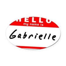Gabrielle Oval Car Magnet