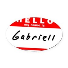 Gabriell Oval Car Magnet