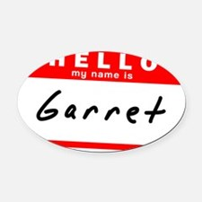 Garret Oval Car Magnet