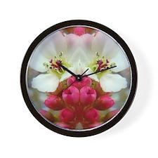 Soft Apple Blossoms Wall Clock