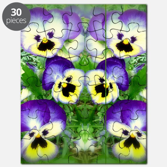Pretty Pansy Faces Puzzle