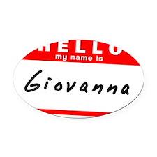 Giovanna Oval Car Magnet