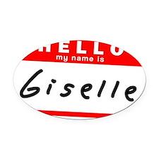 Giselle Oval Car Magnet