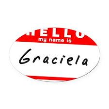 Graciela Oval Car Magnet