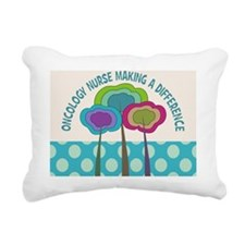 oncology nurse CP Trees Rectangular Canvas Pillow