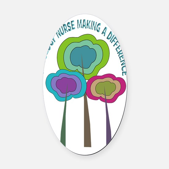 oncology nurse CP NO BACKGROUND Oval Car Magnet