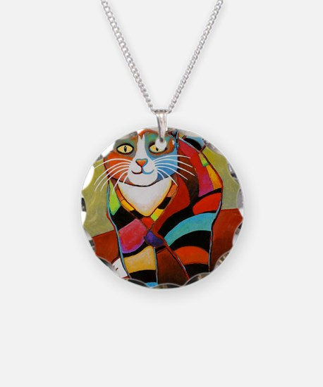 catColorsNew Necklace Circle Charm