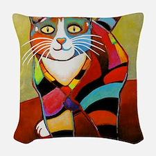 catColorsNew Woven Throw Pillow