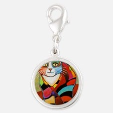 catColorsNew Silver Round Charm