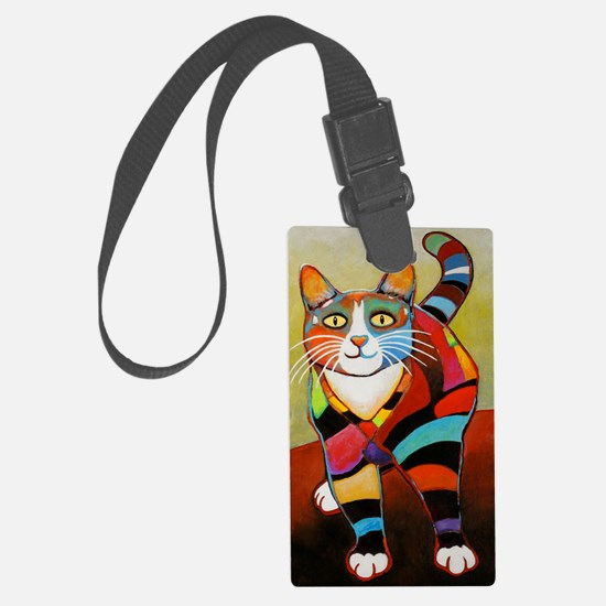 catColorsNew Large Luggage Tag