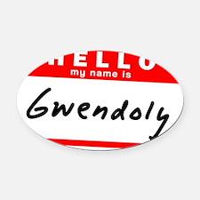 Gwendolyn Oval Car Magnet