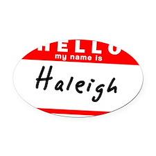 Haleigh Oval Car Magnet