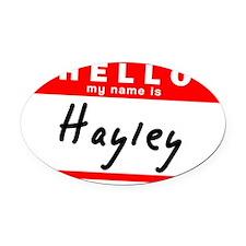 Hayley Oval Car Magnet