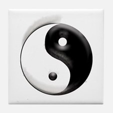 Yin Yang Dragons Tile Coaster