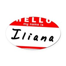 Iliana Oval Car Magnet
