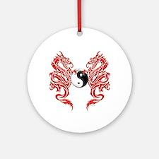 Yin Yang Dragons Ornament (Round)