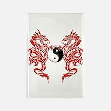 Yin Yang Dragons Rectangle Magnet