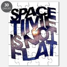 Space Time is Not Flat Puzzle