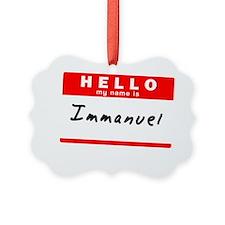 Immanuel Ornament