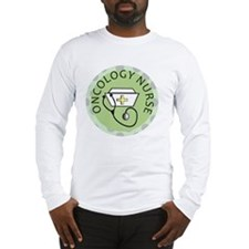 cp oncology nurse green round Long Sleeve T-Shirt