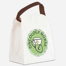cp oncology nurse green round Canvas Lunch Bag
