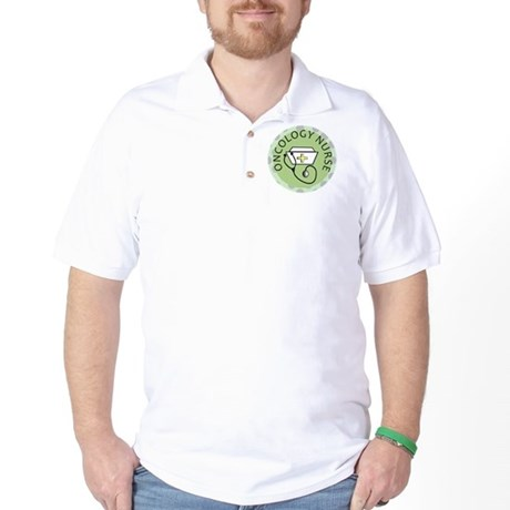 cp oncology nurse green round Golf Shirt