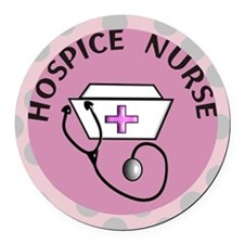 cp hospice nurse round Round Car Magnet