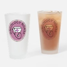 cp oncology nurse round pink Drinking Glass