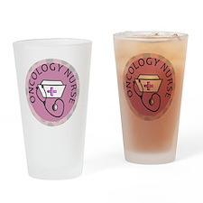 cp oncology nurse round pink Drinking Glass