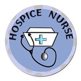 Hospice nurse Round Car Magnets
