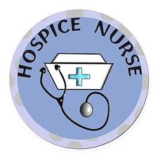 cp hospice nurse round blue Round Car Magnet