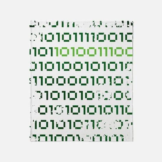 binary-1337-01c-cafepress Throw Blanket