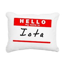 Iota Rectangular Canvas Pillow