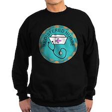 NECKLACE REGISTERED NURSE TEAL Sweatshirt