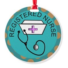 NECKLACE REGISTERED NURSE TEAL Ornament