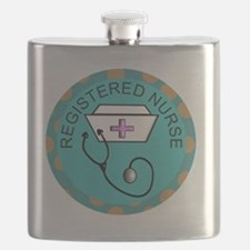 NECKLACE REGISTERED NURSE TEAL Flask
