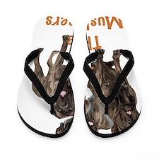 mastiffs 3 musketeers Flip Flops
