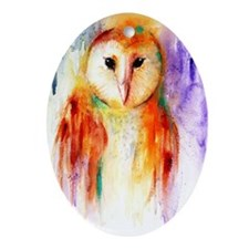 Solo Owl Oval Ornament