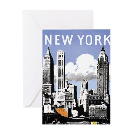 Vintage New York2.gif Greeting Card
