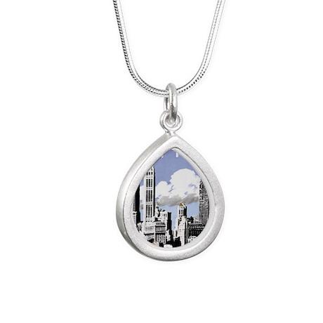 Vintage New York2.gif Silver Teardrop Necklace