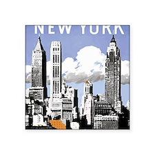 "Vintage New York2.gif Square Sticker 3"" x 3"""