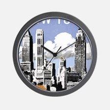 Vintage New York2.gif Wall Clock