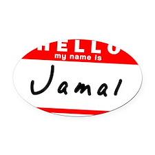 Jamal Oval Car Magnet