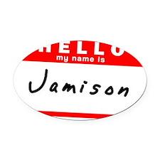 Jamison Oval Car Magnet