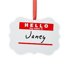 Janey Ornament