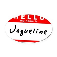 Jaqueline Oval Car Magnet