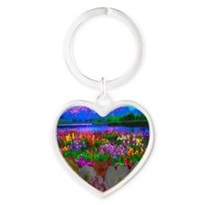 Room With A View 10 10 200 Heart Keychain