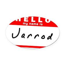 Jarrod Oval Car Magnet